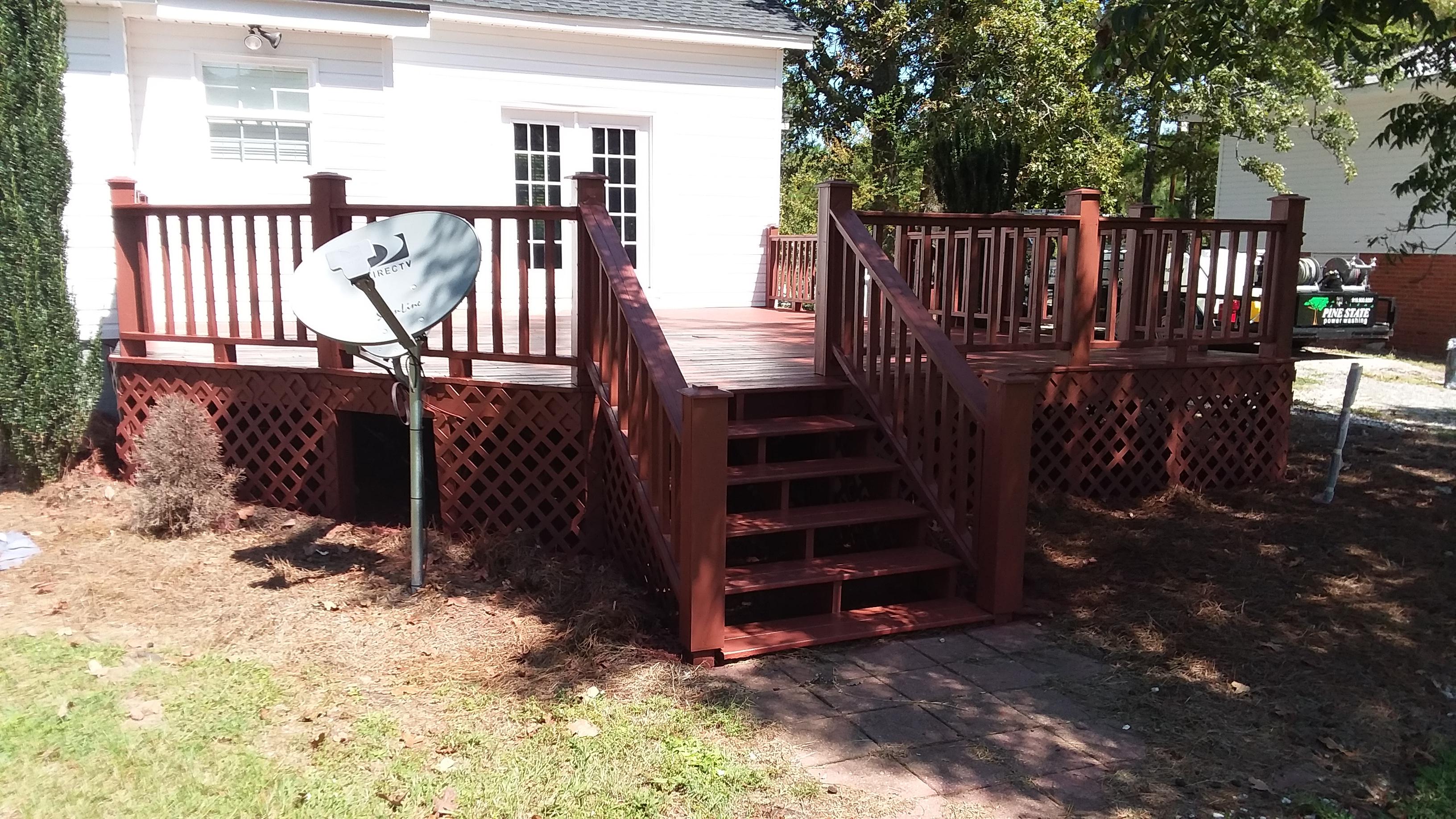 Deck Restoration Pine State Power Washing